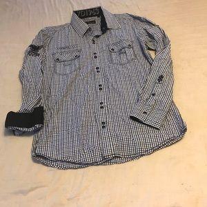 Mens 7 Diamonds long sleeve medium shirt